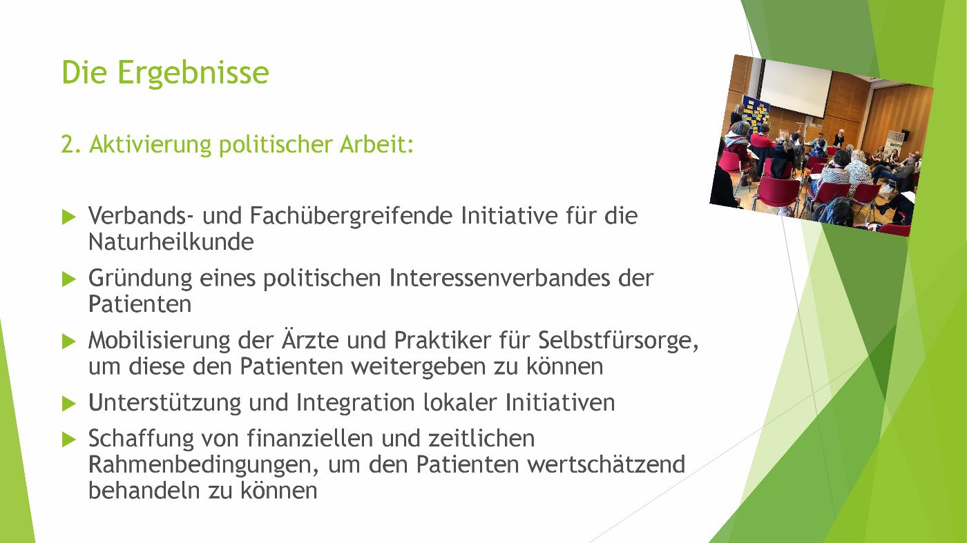 Symposium Hippokrates 2.0 Ergebnisse 2 - Aktivierung politischer Arbeit